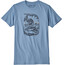 Patagonia Nut vs. Piton Organic Shortsleeve Shirt Men blue